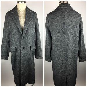 Zara woman studio gray long 2 Button coat jacket